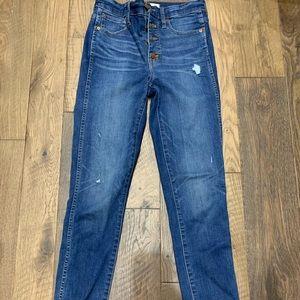 "Madewell Taller 10"" Skinny Jeans 27T"